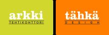 Arkkitehtikonttorin logo Tahkadesignin logo