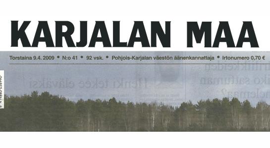 Ark-konttori l&k Karjalan Maa lehtijuttu