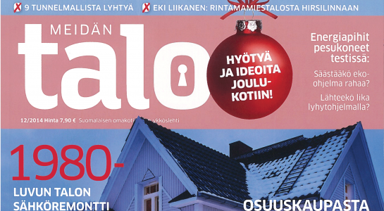 Ark-konttori l&k Meidän Talo lehtijuttu